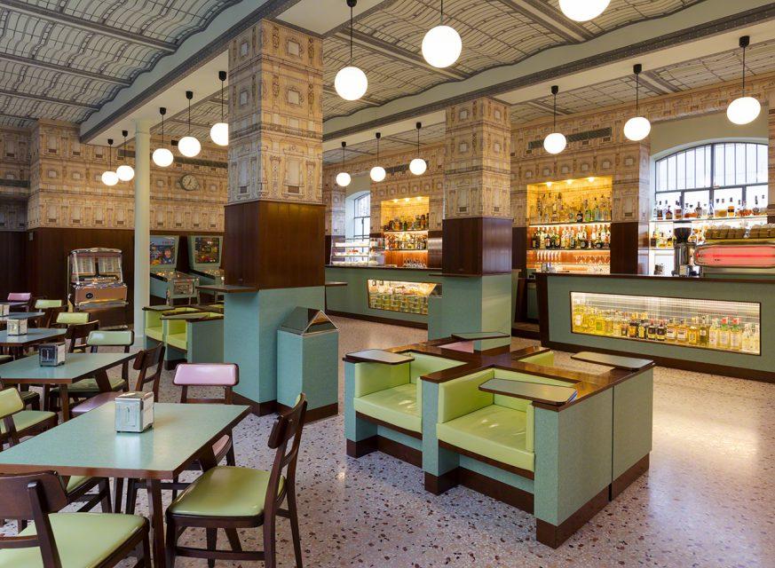 Wes Anderson Coffee Table Book.Bar Luce Fondazione Prada